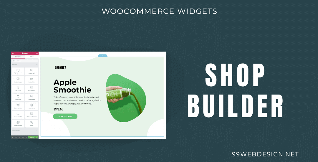 Elementor woocommerce builder widget