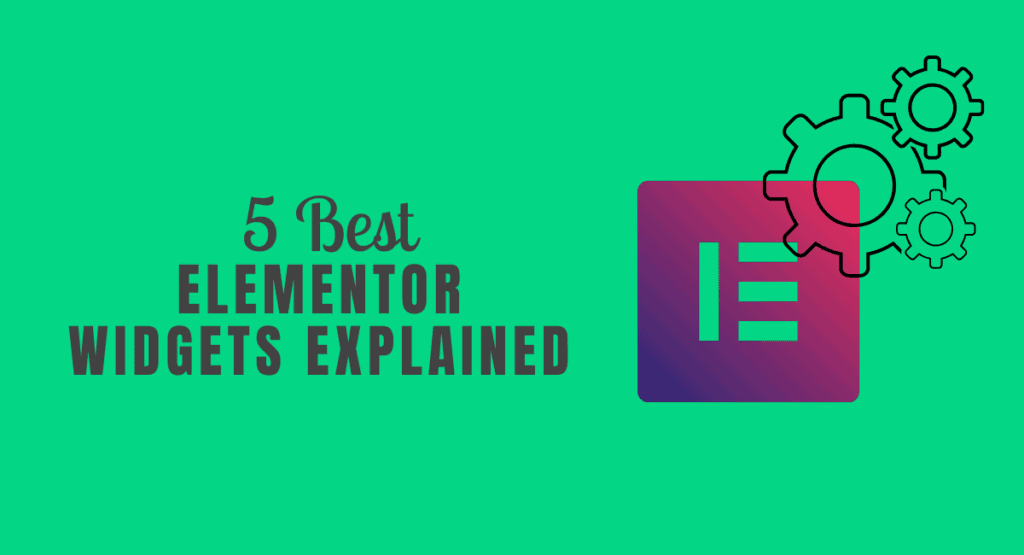 Poster of 5 Best Elementor Widgets explain with Theme builder, Marketing Widgets