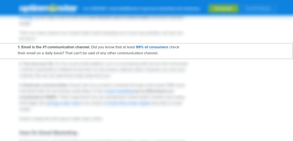 email marketing guide from optionmonster webiste