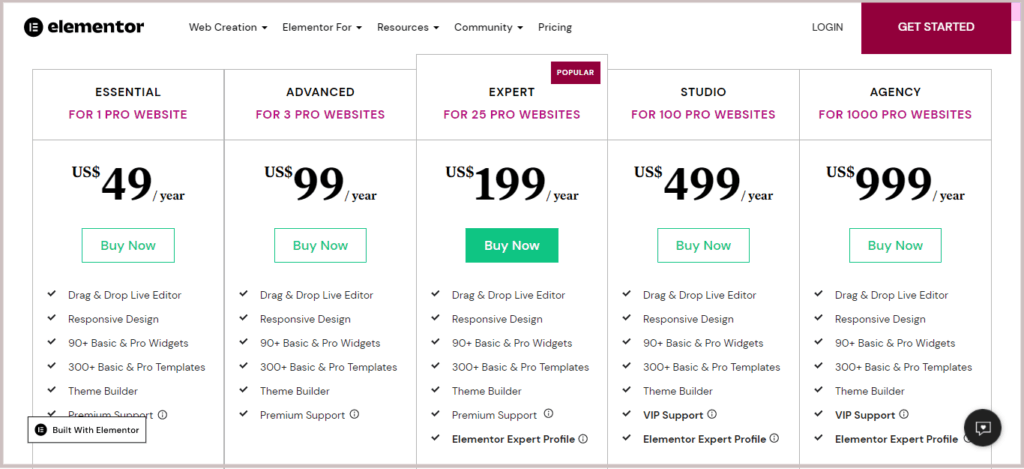 latest new pricing of elementor pro, with lifelime deal, get elementor pro licence key for lifetime, payone time and use elementor pro for lifetime
